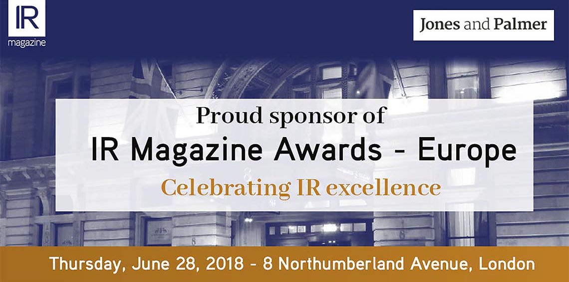 IR Magazine Awards - Europe Sponsor Logo