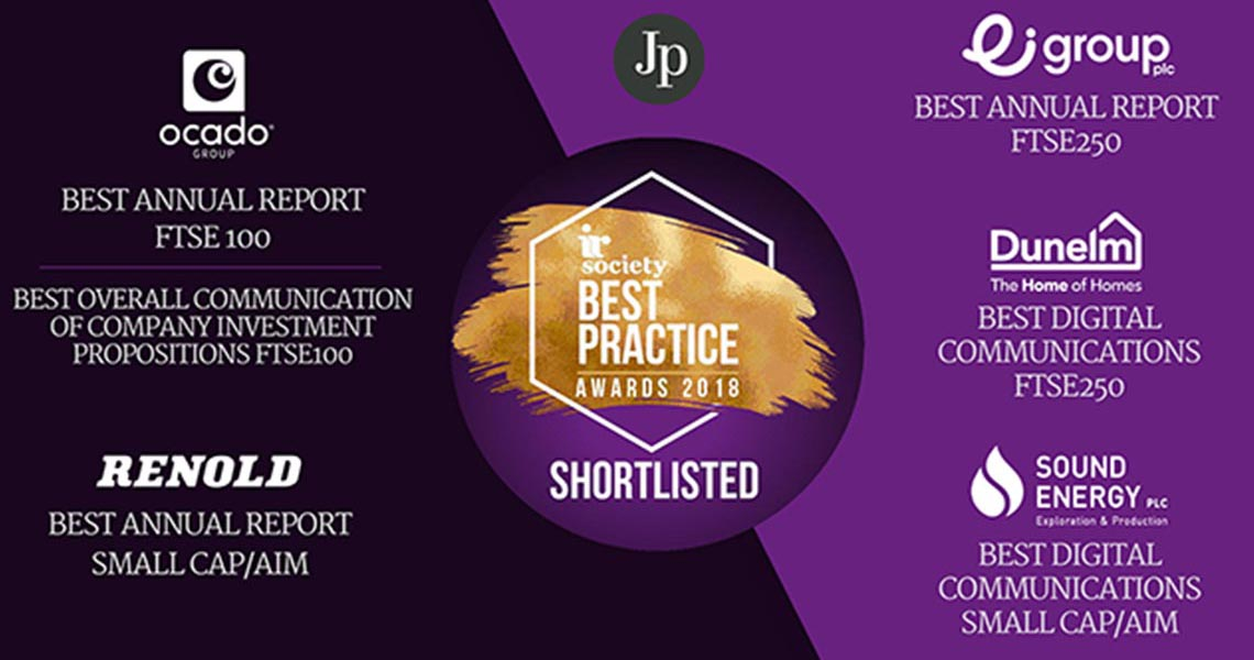 IR Society Best Practice Awards Jones and Palmer Shortlist