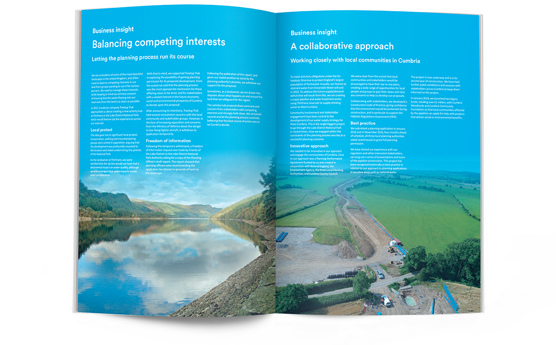 United Utilities Annual Report 2018 Business Insights