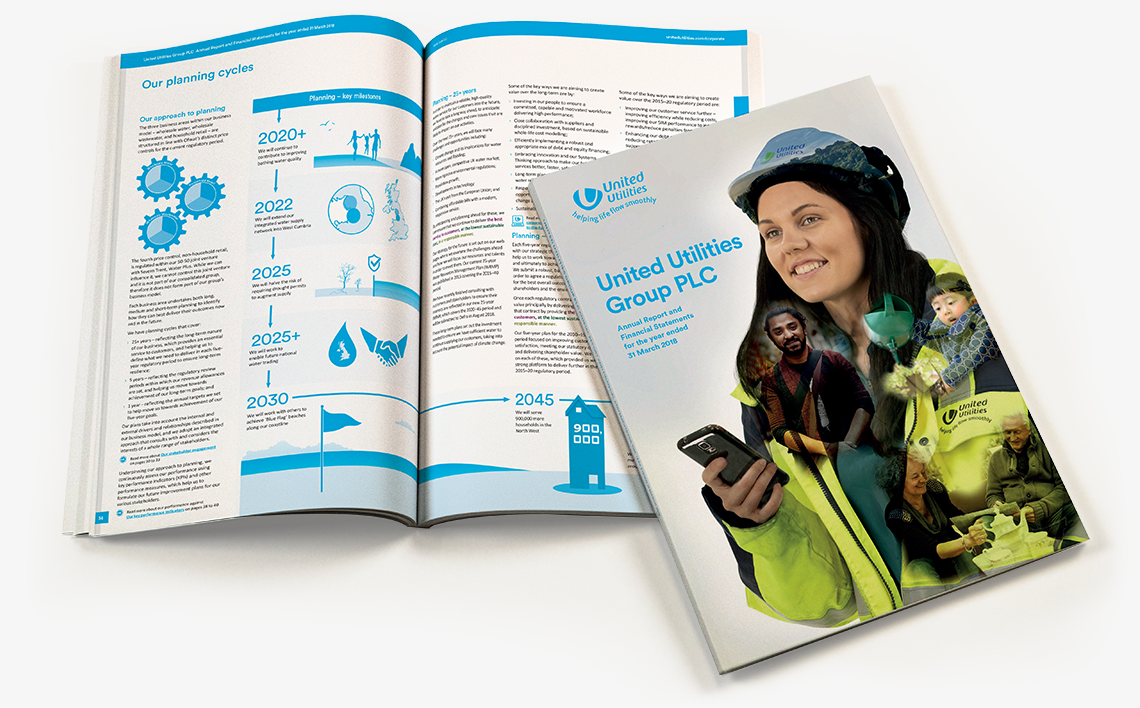 United Utilities Annual Report 2018 Front Cover