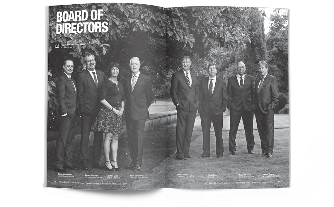 Henry Boot Annual Report Board of Directors