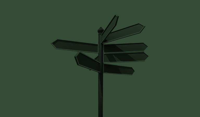 signpost-dark-green