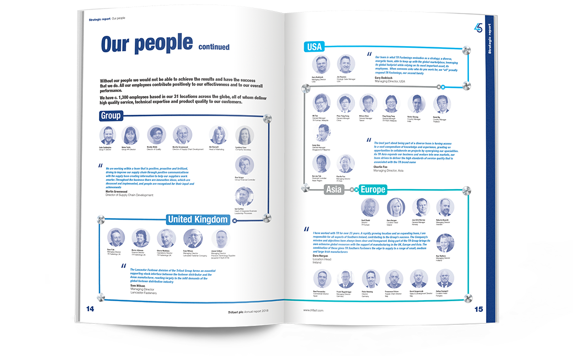 Trifast Annual Report 2018 Our People
