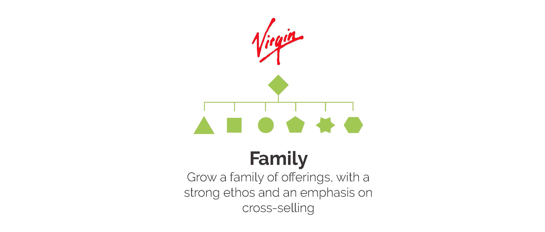 Family brand structure